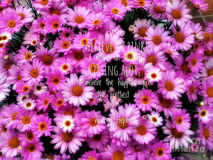 Pink Daisies Photograph - I Believe In Pink Daisies by Joan-Violet Stretch