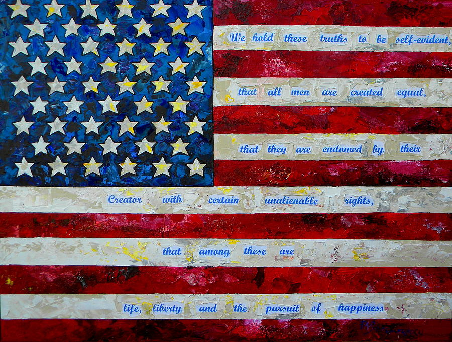 American Flag Painting - I Believe by Patti Schermerhorn