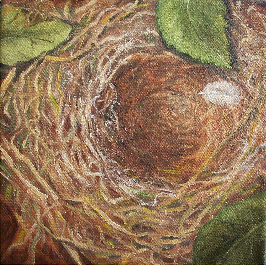 Bird's Nest Painting - I Built You a Nest by Irene Corey