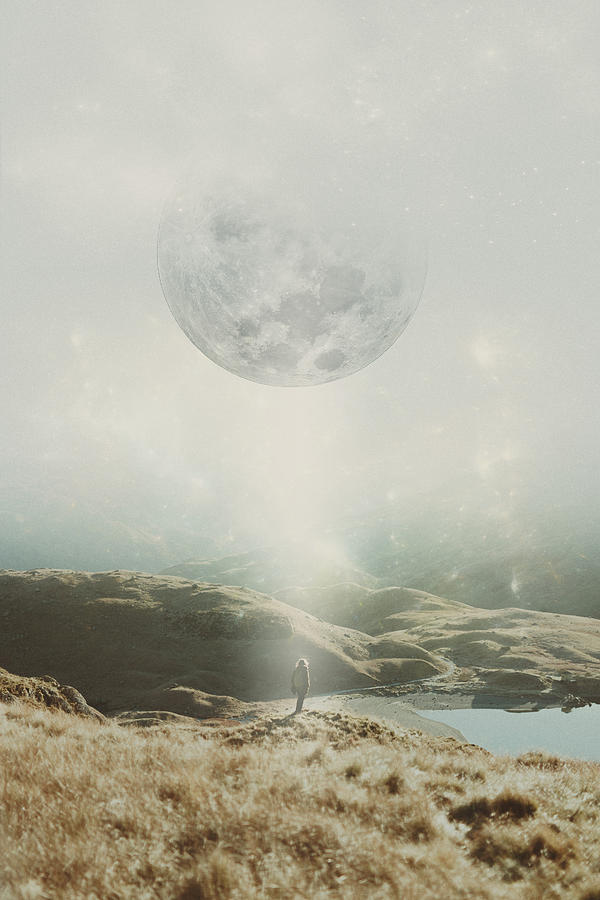 Moon Photograph - I Call For An Awakening by Mariam Soliman