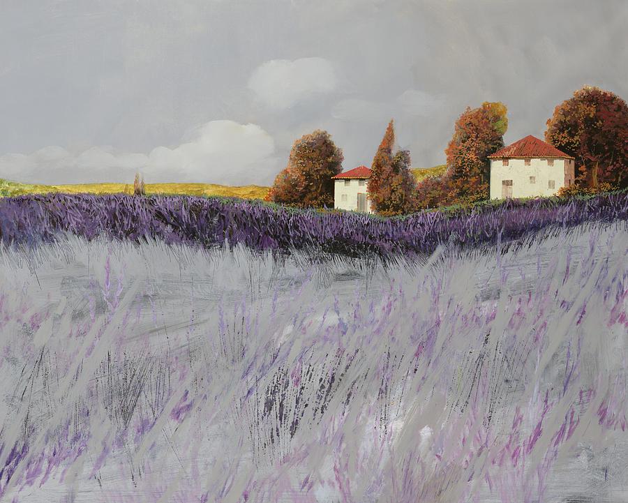 Lavender Painting - I Campi Di Lavanda by Guido Borelli