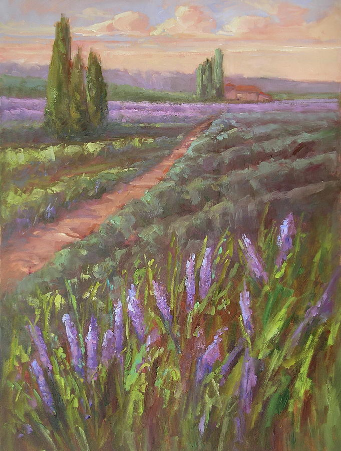 I Campi Toscani Tuscan Fields Painting by Karen Hewitt Hagan