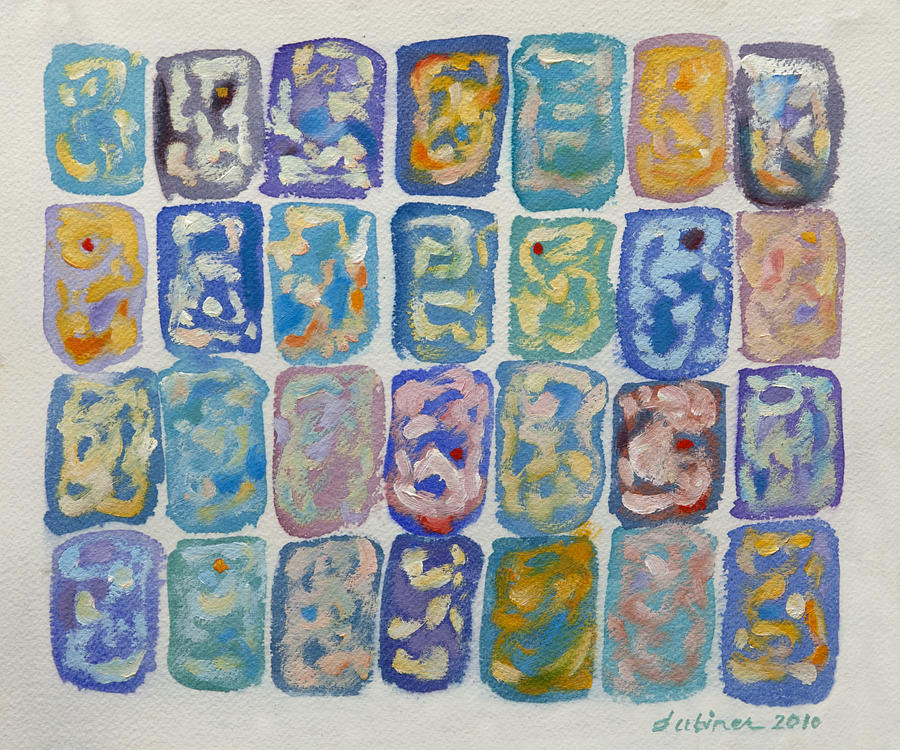 Abstract Forms Painting - I-ching-maybe by Shoshanah Dubiner