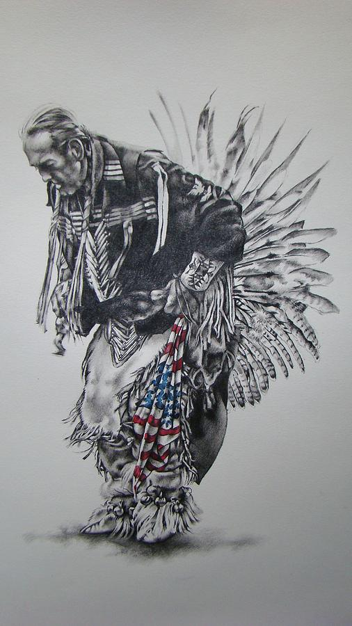 Native Mixed Media - I Close My Eyes And Hear The Songs Of My Ancestors by Michael Lee Summers