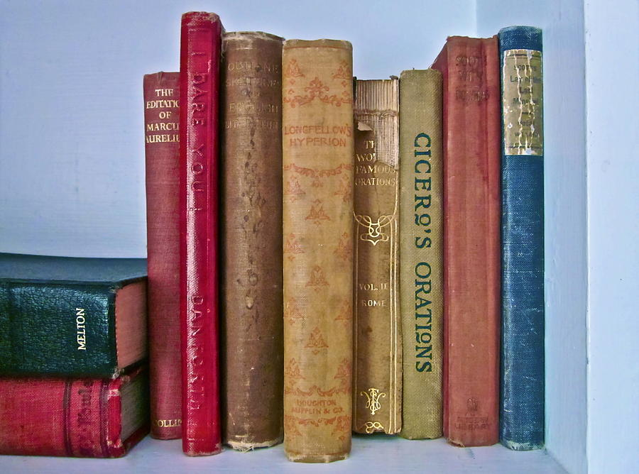 Vintage Books Photograph - I Dare You Et Al. by Gwyn Newcombe