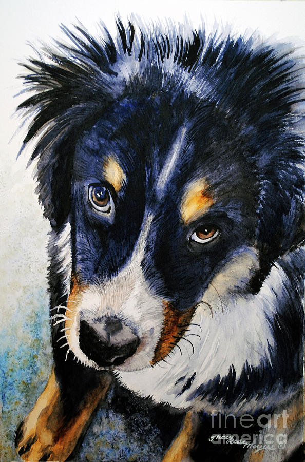 Dog Painting - I Didnt Do It by Tracy Rose Moyers