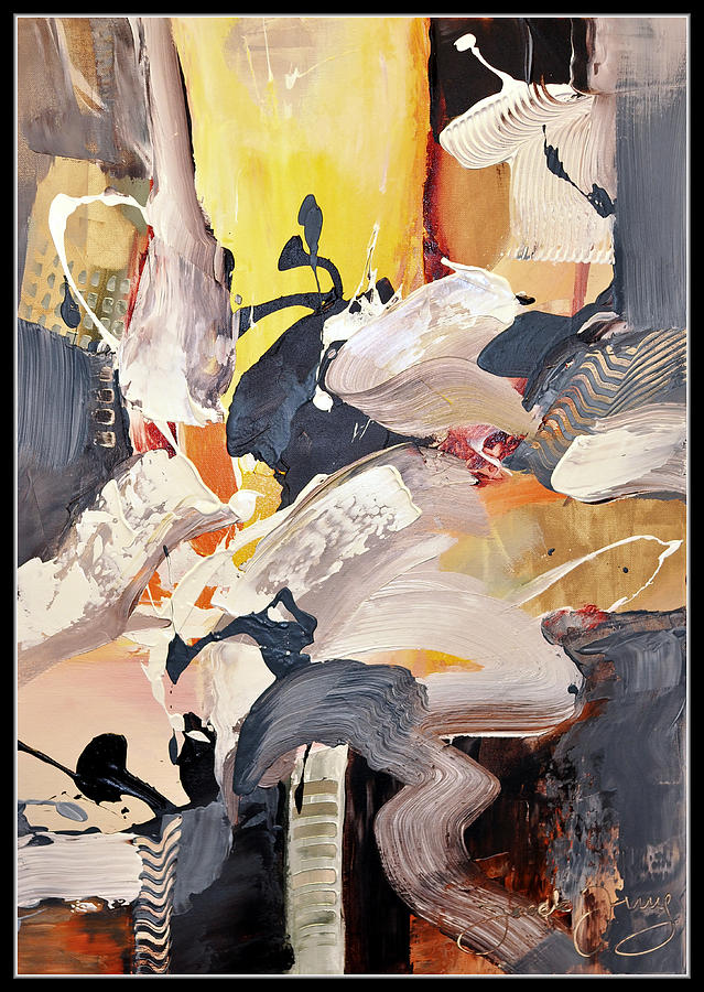 Abstract Painting - I Do Not Want To Hurt Anyone by Jacek  Ungierat - Jung