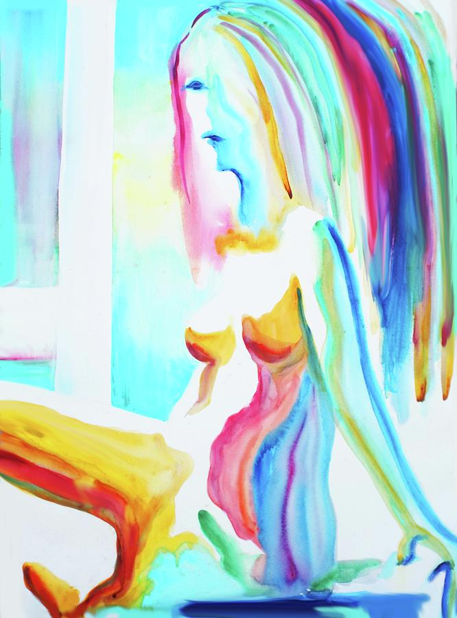 Figures Painting - I Dont Think So by Susi Franco