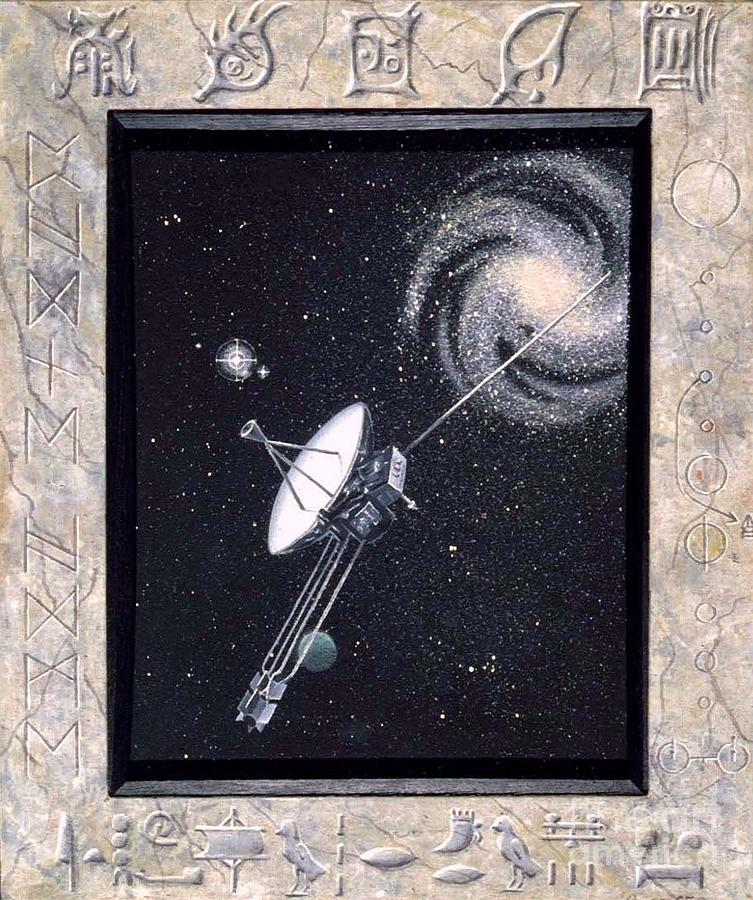 Pioneer Space Craft Painting - I Draw Breath At The Edge Of Heaven by Richard Deurer