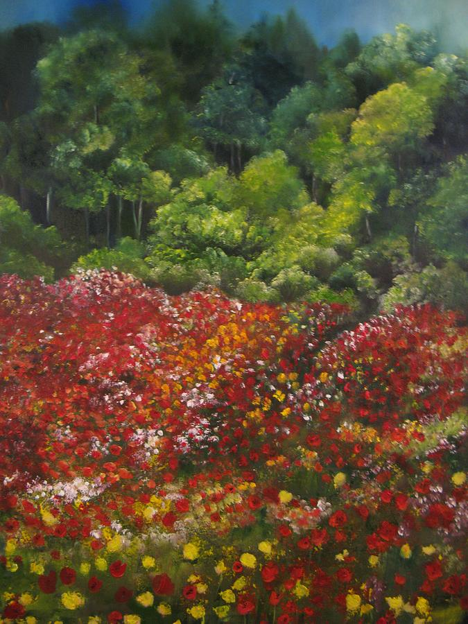 Poppies Painting - I Dream Of Poppies by Carol Sweetwood