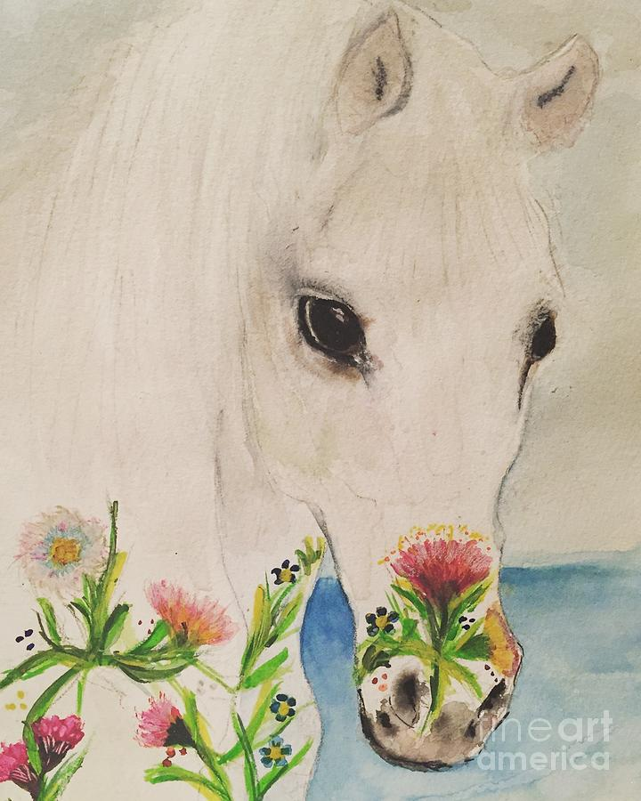 I Dreamt Of A White Horse Painting