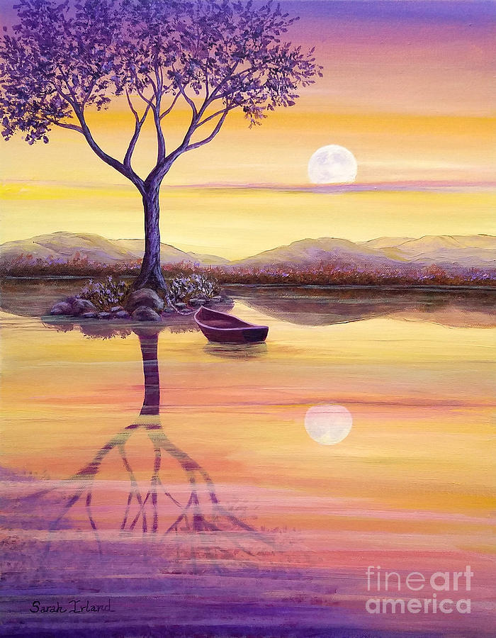 I Painting - I Dreamt Of The Moon by Sarah Irland