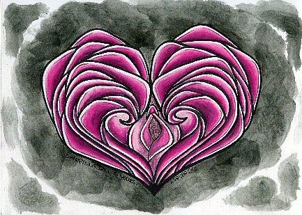 Heart Drawing - I Gave You My Heart by Leeanne Vavra