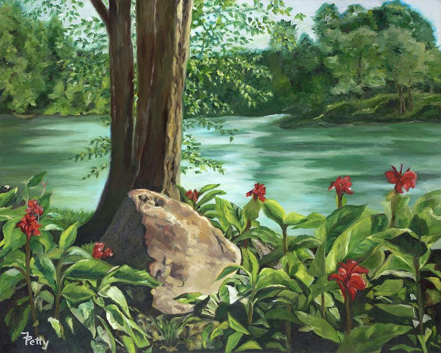 Water Painting - I Go to the Rock by Freida Petty