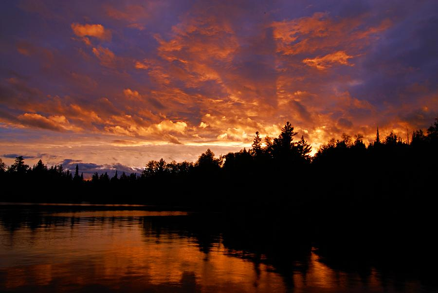 Bwcaw Photograph - I Have Seen Rain And I Have Seen Fire by Larry Ricker