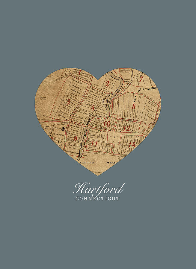 I Hartford Connecticut Vintage City Street Map Love Americana Series on street map west haven connecticut, street map stamford connecticut, street map enfield connecticut, parks hartford connecticut, street map hartford illinois, street map newtown connecticut, street maps of hartford county, directions hartford connecticut,