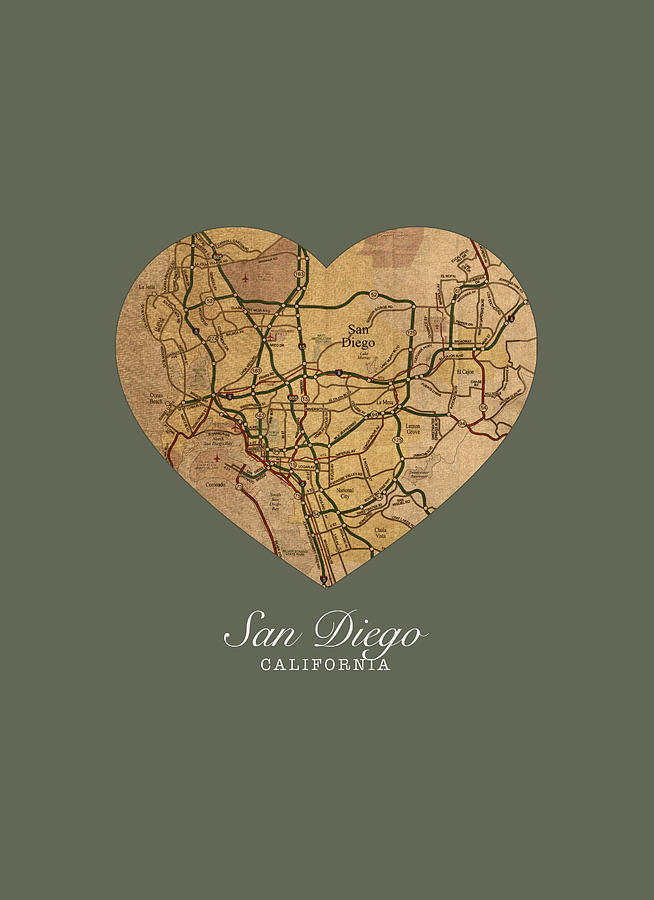 I Heart San go California Vintage City Street Map Americana Series on local city maps, metro city maps, city lot maps, city tourist maps, city food maps, city state maps, neighborhood maps, city of simi valley maps, city background, city of youngtown az map, city map of illinois cities, city highway maps, city walking map boston, city of jefferson city tennessee, new york city maps, city place maps, road maps, print city maps, city streets of fort collins, city of temple tx maps,