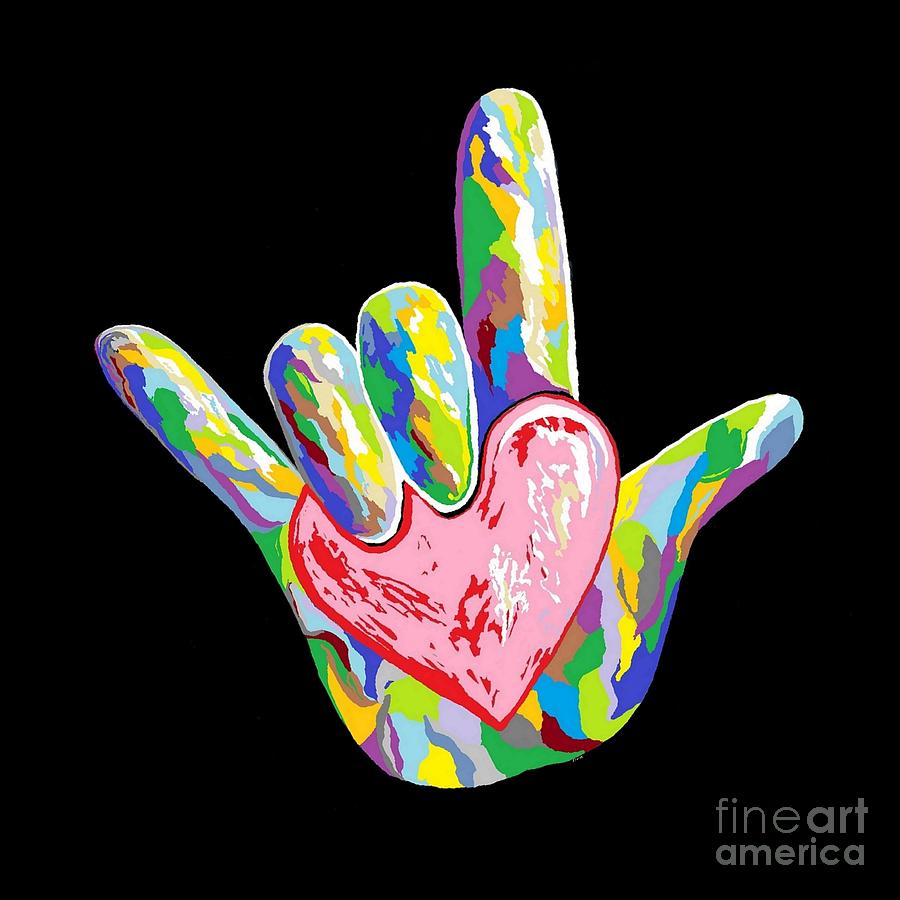 Heart Painting - I Heart You by Eloise Schneider