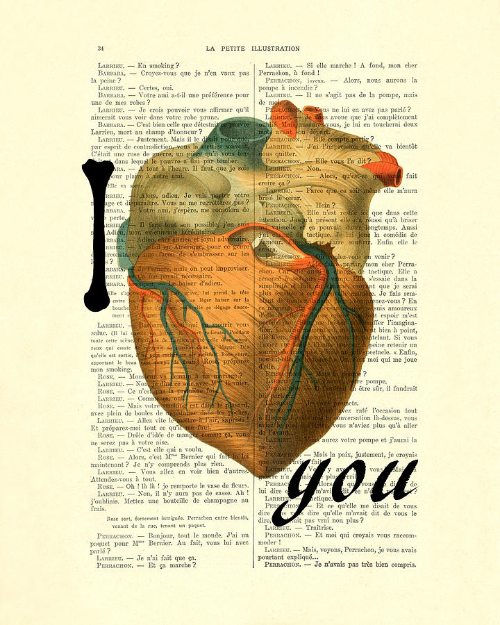 I Love You Digital Art - I Heart You by Madame Memento