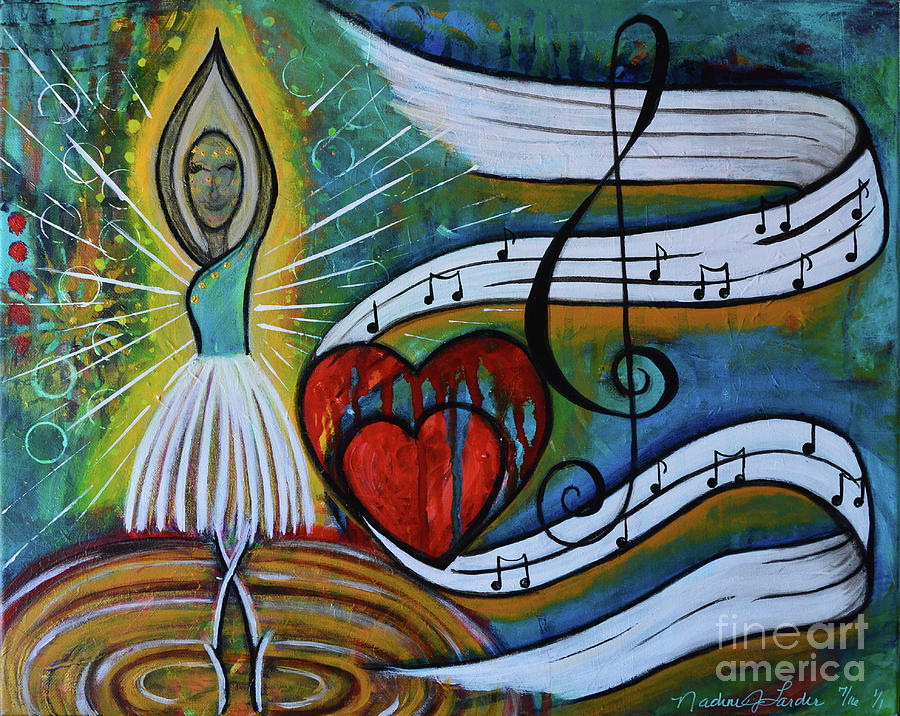 Dance Painting - I Hope You Dance by Nadine Larder