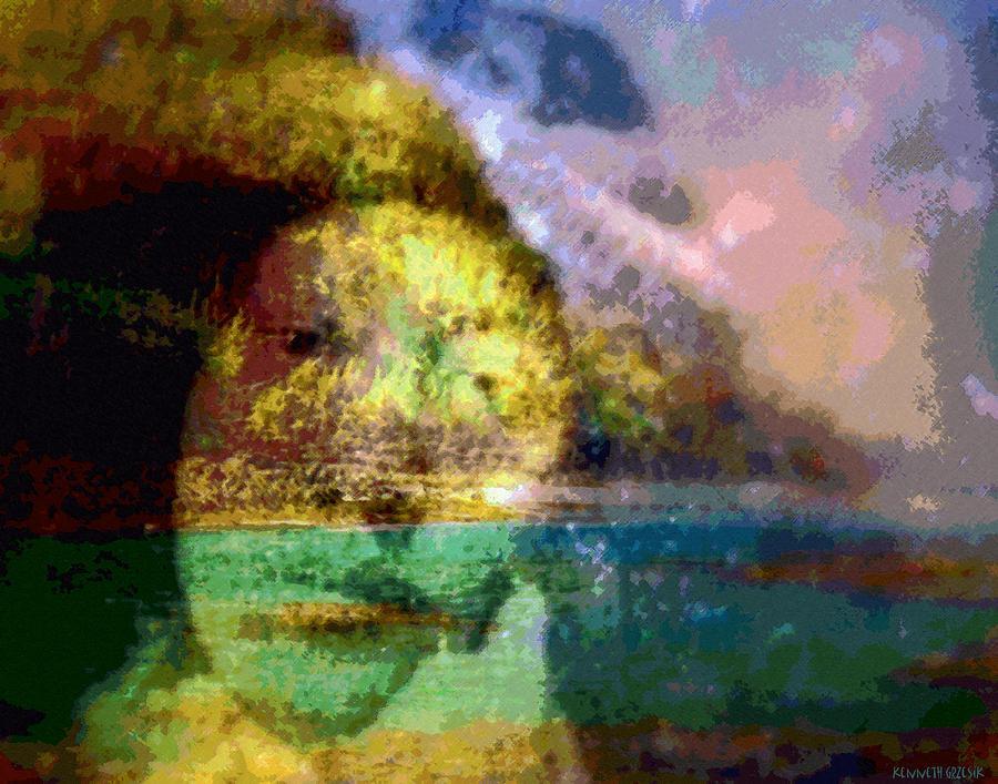 Tropical Interior Design Photograph - I Ini O Ka Naau by Kenneth Grzesik