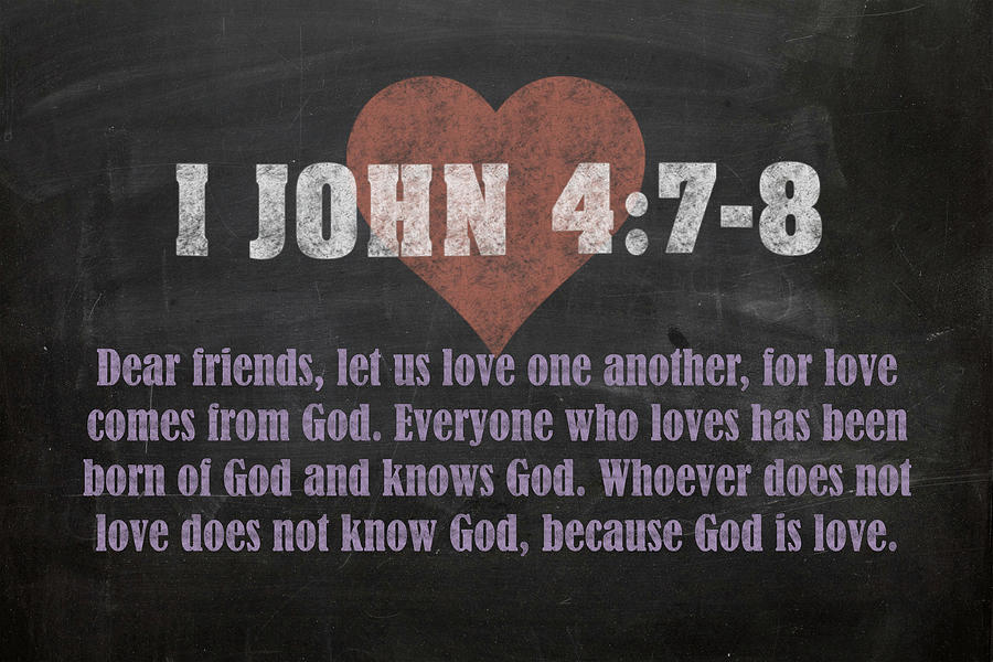 I John 4 7-8 Inspirational Quote Bible Verses On