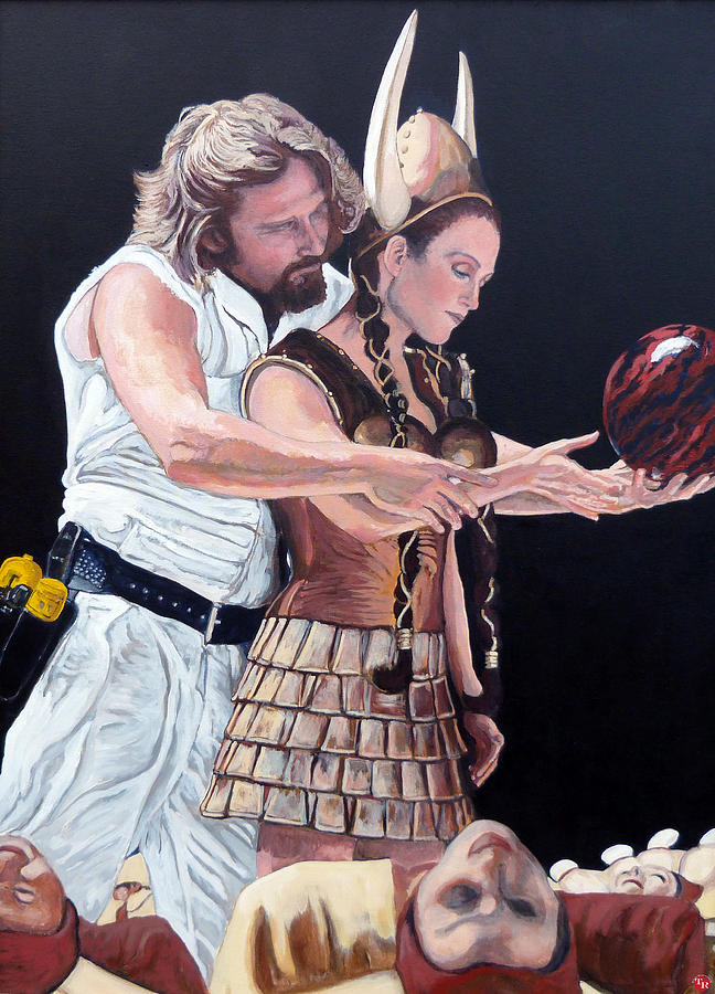 The Dude Painting - I Just Dropped In by Tom Roderick