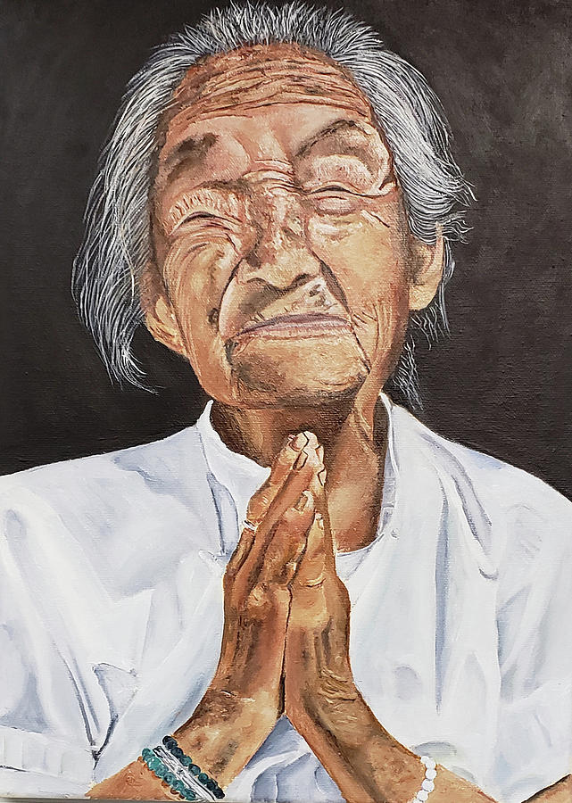 Prayer Painting - I Know You Hear Me by JoeRay Kelley
