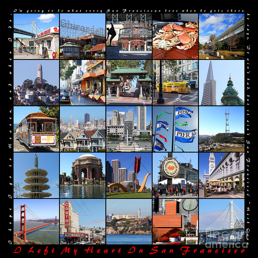 I Left My Heart In San Francisco 20150103 with text by San Francisco Art and Photography