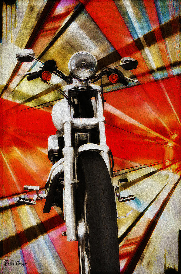 Harley Davidson Photograph - I Like Bikes by Bill Cannon