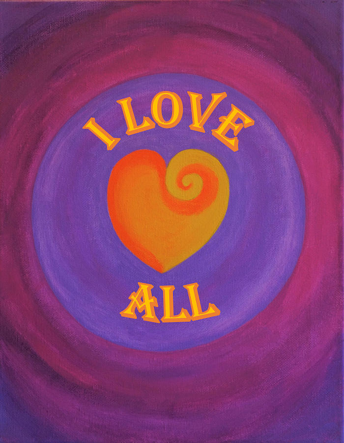 Love Painting - I Love All by Ron Snyder