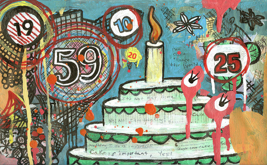 Cake Mixed Media - I Love Cake by Pegeen  Shean