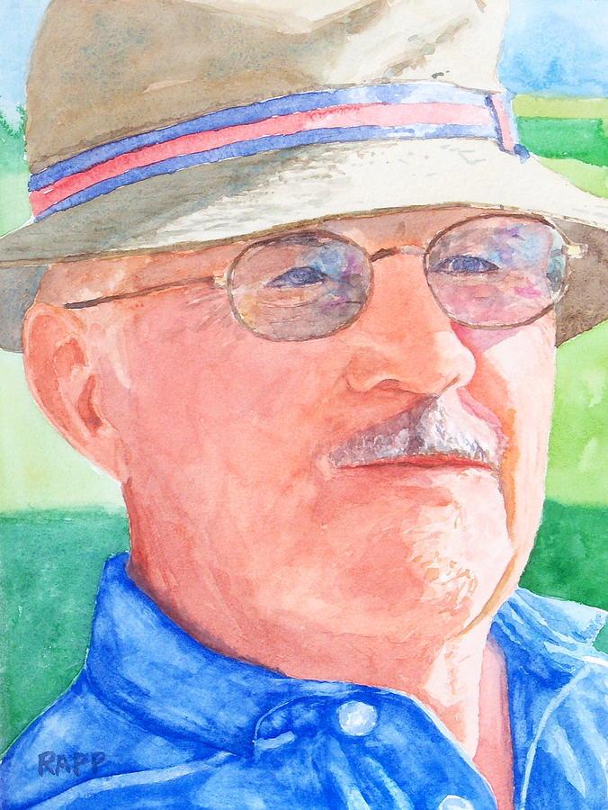 Figure Painting - I Love Golf by Jan Rapp
