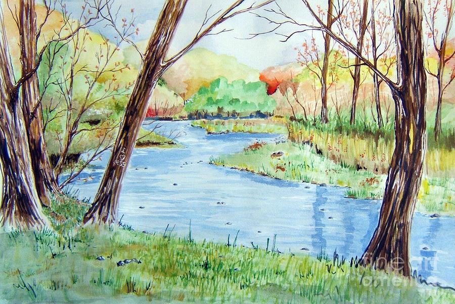 Landscape Painting - I Love Jess by Joseph Palotas