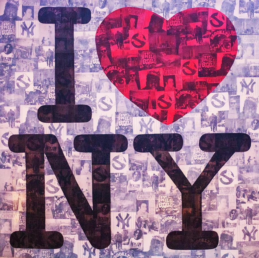 I Love New York Painting - I Love New York by Brent Andrew Doty