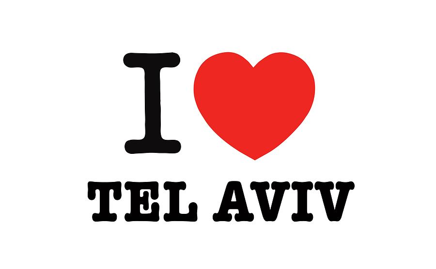 Israel Photograph - i love Tel Aviv by Ron Shoshani