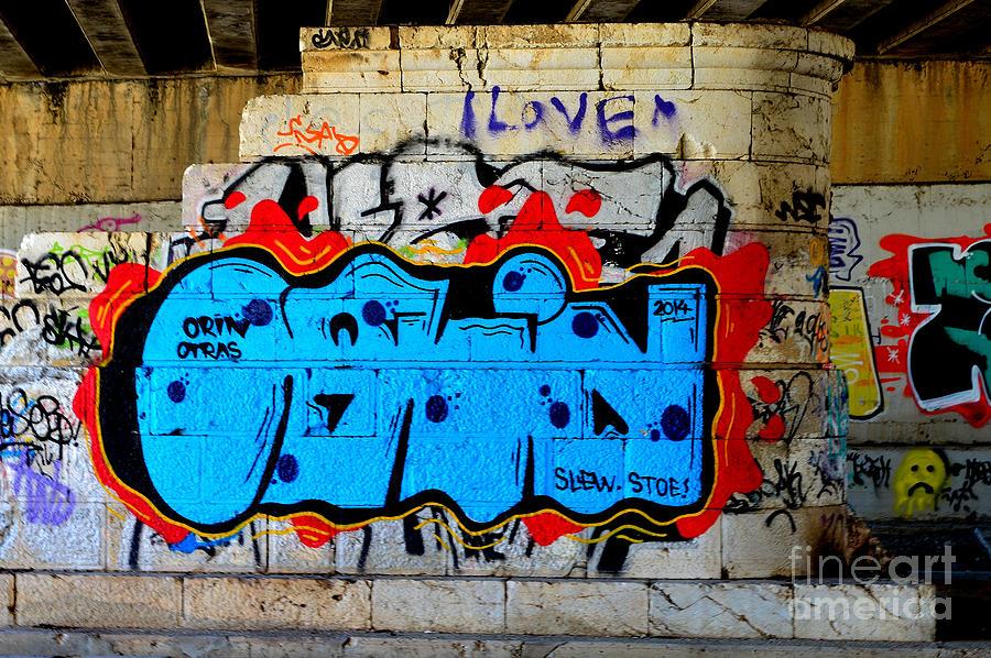Graffiti Photograph - I Love                     Graffiti  by Urban Artful