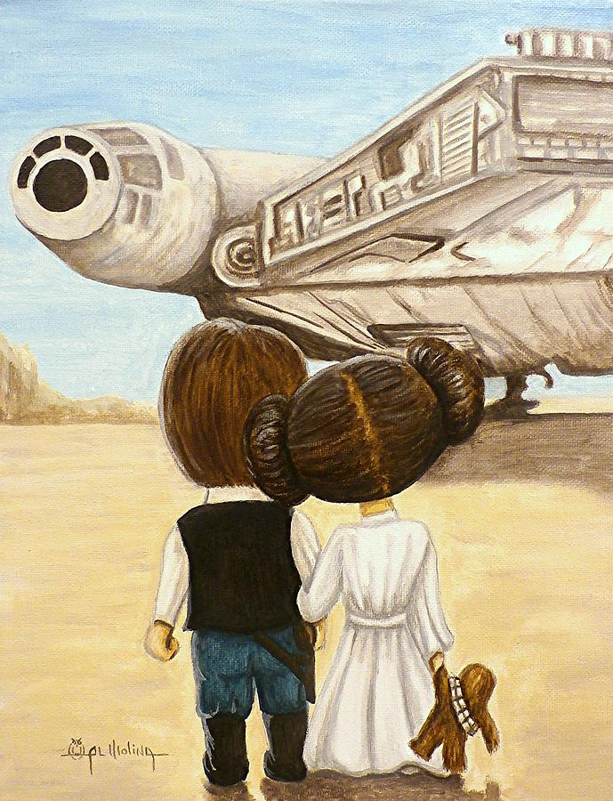 Star Wars Painting - I Love You     I Know by Al  Molina