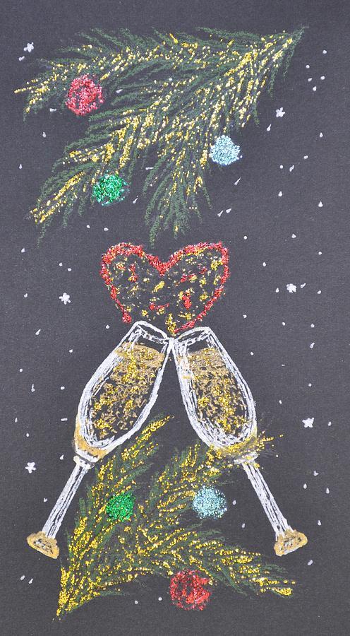 Christmas Ornaments Painting - I Love You by Georgeta  Blanaru
