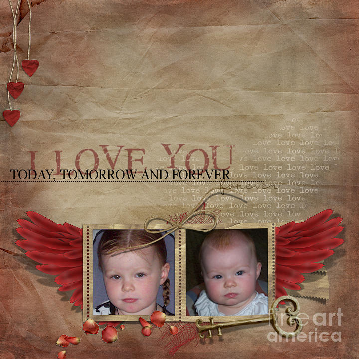 Children Photographs Photograph - I Love You by Joanne Kocwin