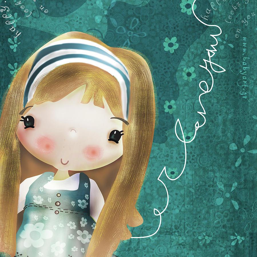 Love Digital Art - I Love You by Antonia Kouzou