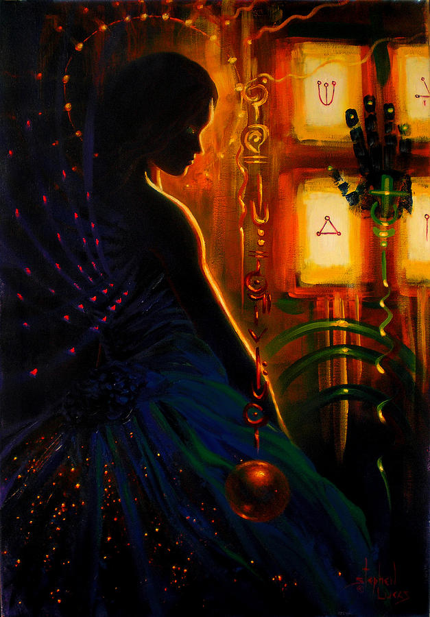 Spiritual Painting - I Marry Your Mind To Lights Window by Stephen Lucas