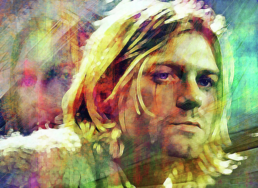 Kurt Cobain Digital Art - I miss the comfort in being sad by Mal Bray
