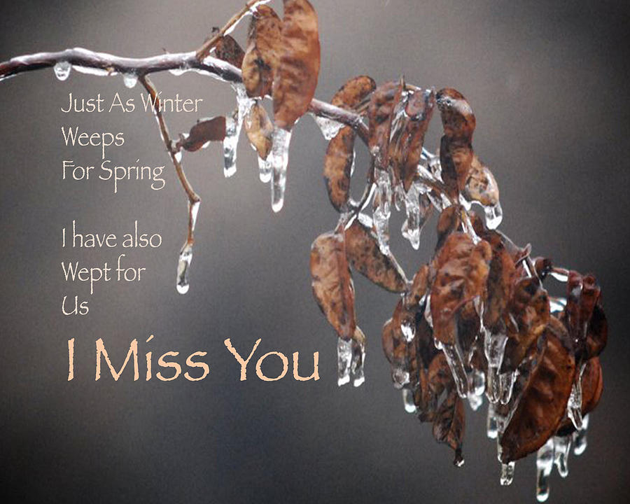 Love Greeting Card - I Miss You by Sharon Elliott