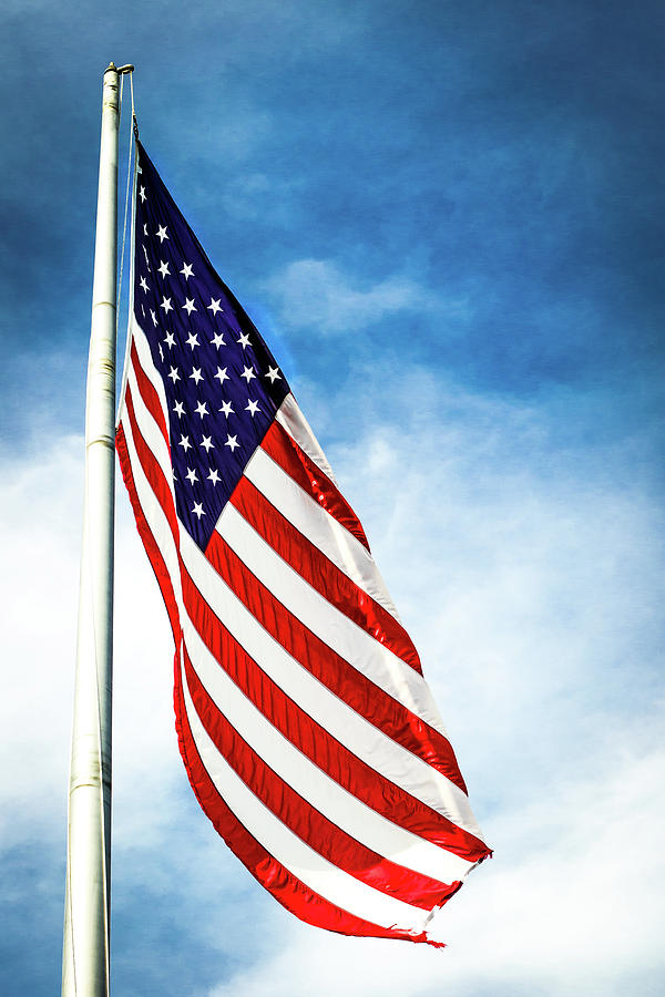 American Flag Photograph - I Pledge Allegiance by Shelby  Young