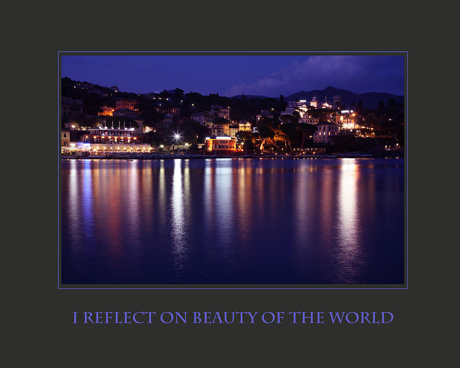 Motivational Photograph - I Reflect On Beauty Of The World by Donna Corless
