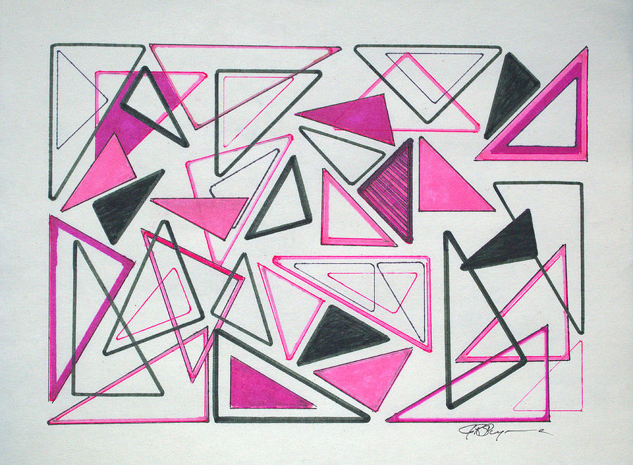 Abstract Drawing - I Remember 1957 by J R Seymour