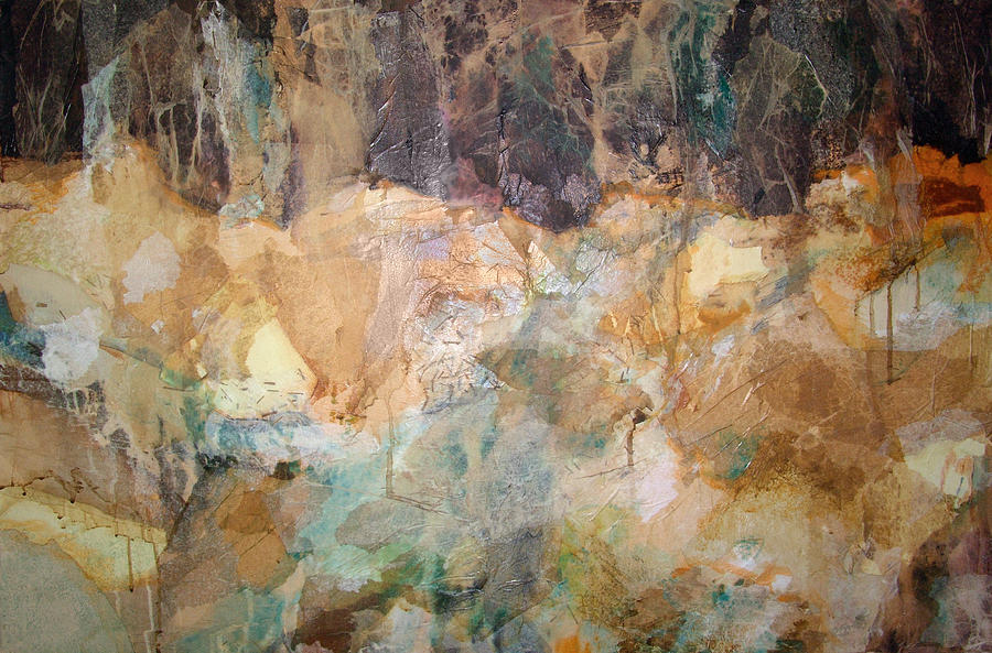 Abstract Landscape Painting - I Remember by Carol Everhart Roper