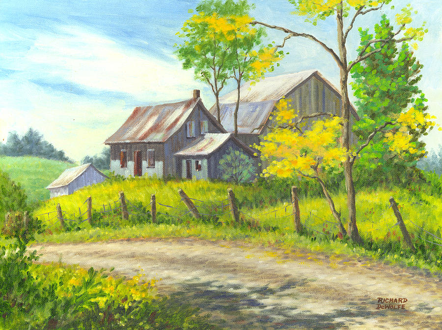 Farm Painting - I Remember When by Richard De Wolfe