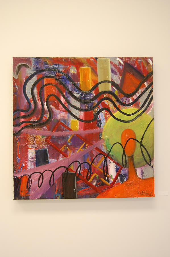 Abstract Painting Painting - I Saw A Door Opening by Roosevelt Watson III
